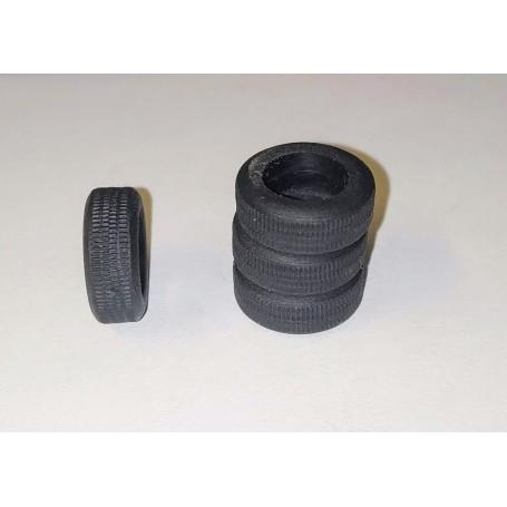 Flexible resin tires - Ø int 9.20 mm - ech. 1:43 - Lot of 4