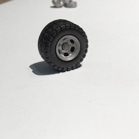 4 jumelating rims Ø11.50 mm - White Metal