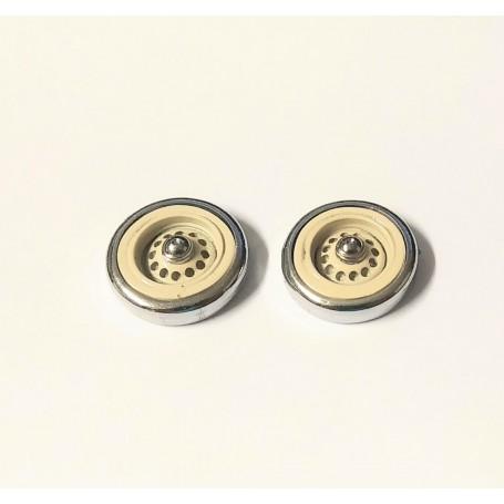 Panhard - 2 spare wheels - ivory - ech 1:43