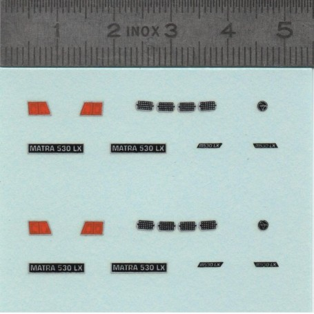 Decal: Matra 530 LX - ech 1:43 - x2