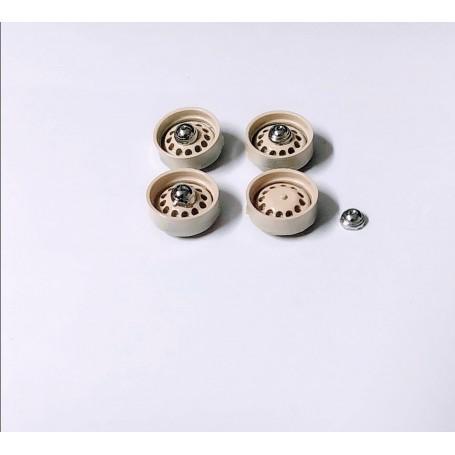 Panhard - 4 ivory rims - resin and metal - ech. 1:43