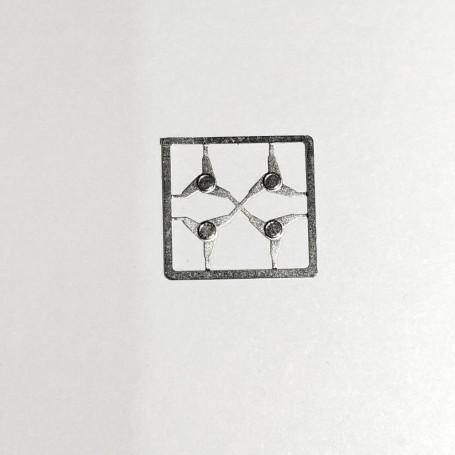 4 Butterfly nuts - approx. Ø 4.50 mm - Photodicker