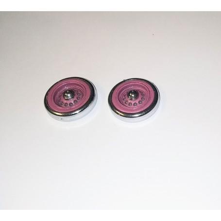Panhard - 2 spare wheels - Rose - ech 1:43