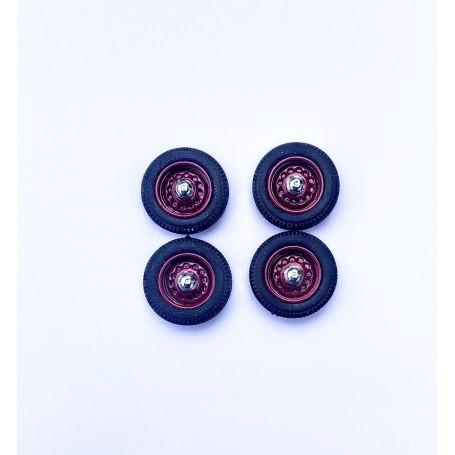 Panhard - 4 complete wheels - Bordeaux - ech 1:43