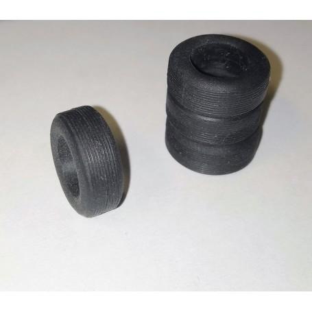 Flexible Resin Tires - Ø Int 9.50mm - ECH 1/43 - Set of 4