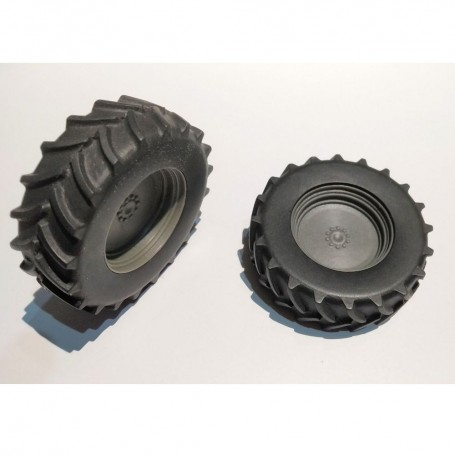 2 wheels for tractor - 620/70 / R38 - ech 1:32 - Resin