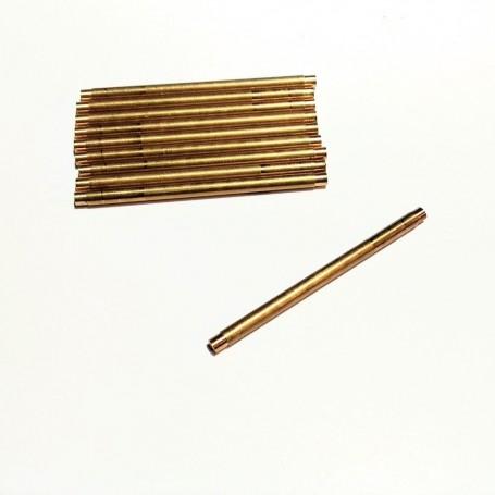 10 Ø2.30mm hole axles - brass - long. 40 mm - CPC Production