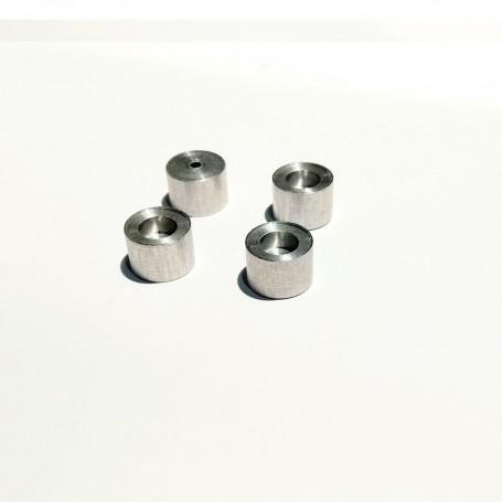 4 Aluminum wheels - Ø 8.50 x 6 mm - CPC Production - CPCB132G