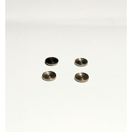4 headlight bases Ø5.50 mm for 5mm pellets - nickel-plated brass - CPC