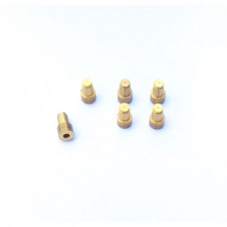 6 hubs for truck wheels - length 8.70 mm - brass - CPC