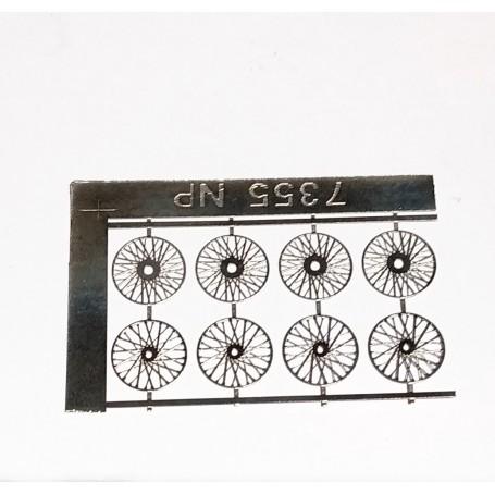 8 Rays Ø 11.50 - Photodecoupe - for 4 wheels