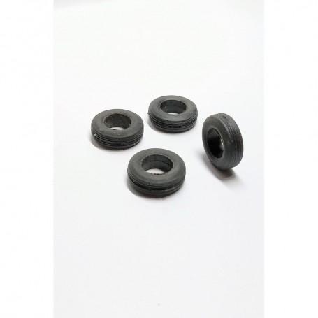4 Flexible Resin Tires - Ø 14 mm - ECH 1:43