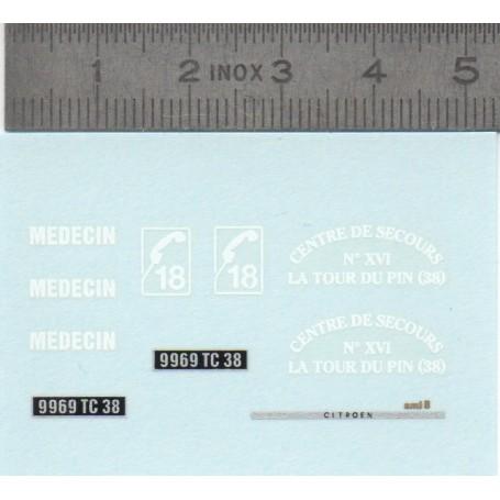 DecalComania - Citroën AMI8 - Rescue - ECH. 1:43