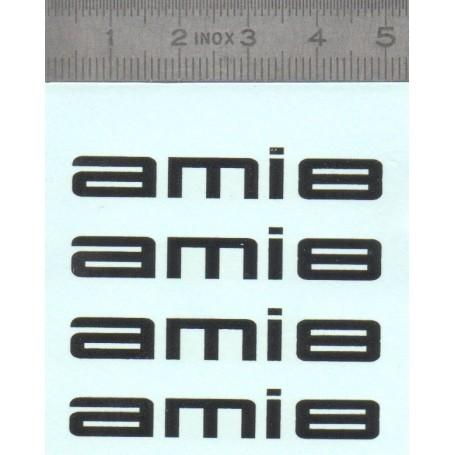 DecalComanie - AMI8 - Citroën - Lot of 4