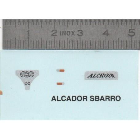 DecalComanie - Alcador Sbarro - ech.1: 43