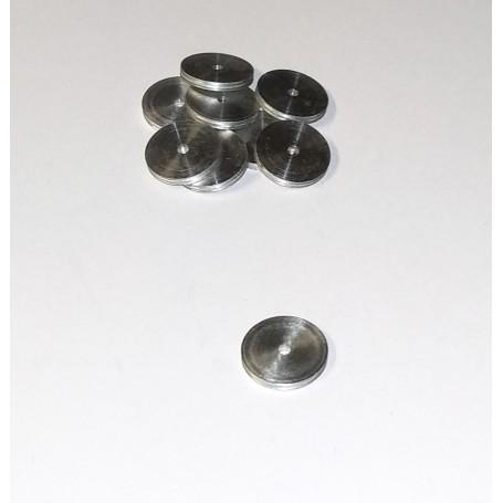 10 Aluminum Disks Ø10.10 x Thickness 1.2 mm - CPC