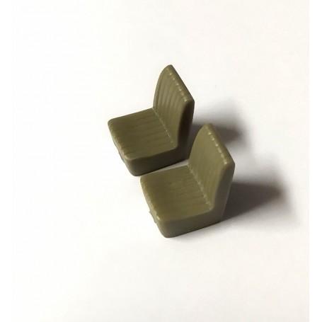 2 resin seats - H. 17.30 x L 11.60 mm - 1:43