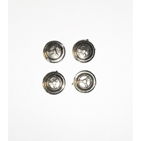 4 inserts in White Metal - Ø 8 mm - ech. 1:43