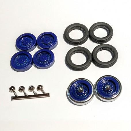 4 wheels + 2 spare wheels - Panhard - 1:43