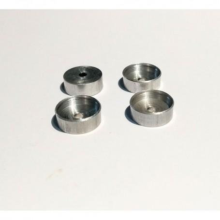 4 aluminum rims Ø10 mm x 3.80 mm - CPC