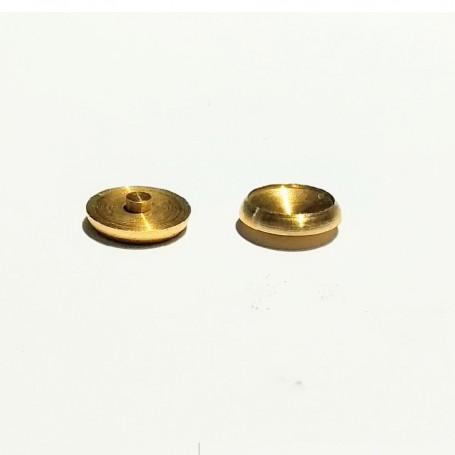 2 headlights - brass - Ø8.40 mm - CPC Production