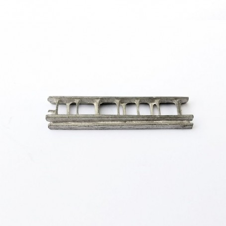 Double ladder - 35 x 8.50 mm - White Metal - CPC Production