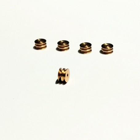 5 pullery pierced Ø4 x 2.20 mm - brass - CPC production