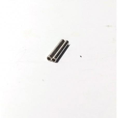 Axis pierced on one side - Ø1.50 mm x 12 mm - Treated brass - x2