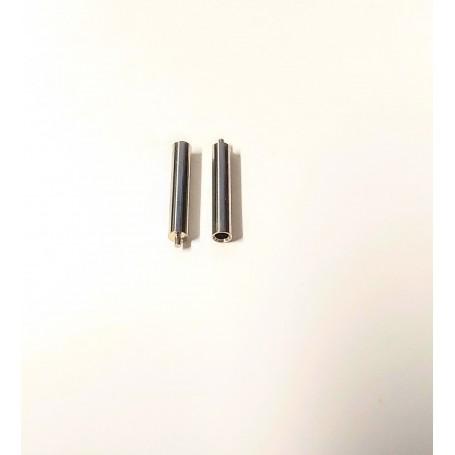 Axis pierced on one side - Ø3 mm x 17 mm - Treated brass - x2