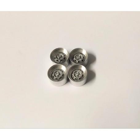 Aluminum rims with resin insert - ech. 1:43 - Ø10.20 mm