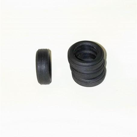 Flexible tires by 4 - interior Ø 9.50mm - ech. 1:43