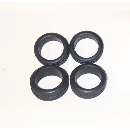 Flexible tires by 4 - interior Ø 10.50mm - ech. 1:43