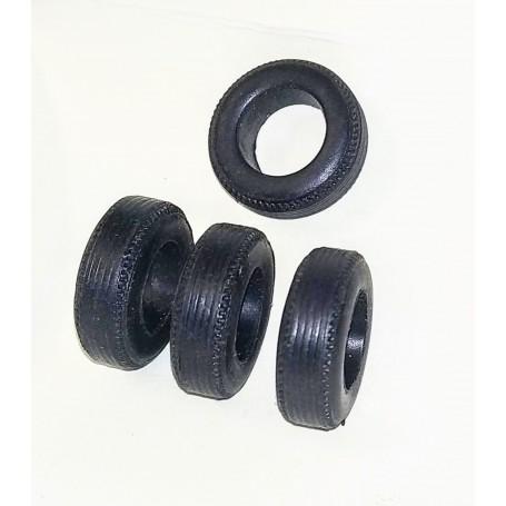 Tires by 4 - hard resin - ech. 1:43 - Ø Int. 9.70
