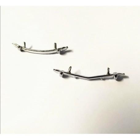 Peugeot 203 - Bumper AV / AR - White Metal - ECH 1/43