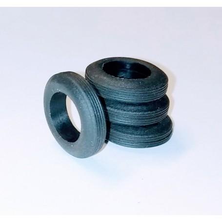 4 flexible resin tires - Ø 16.50 mm - ECH 1:43