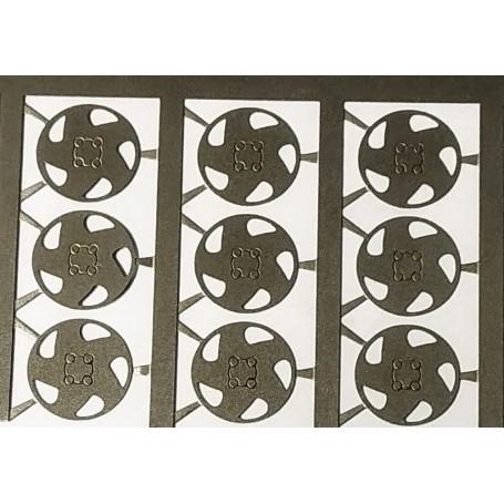4 inserts - photod cutting board Opel - Ø 9mm - ech. 1:43 -