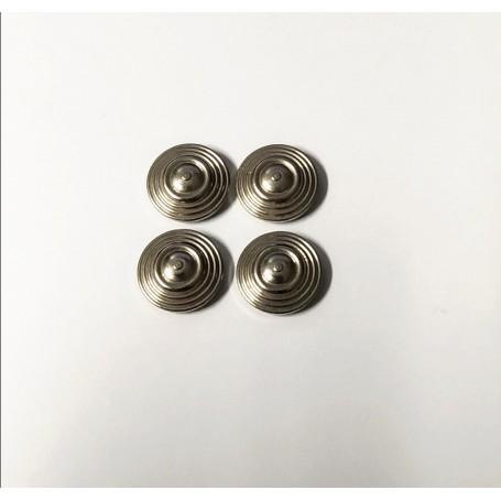 Chrome brass inserts - Ø 11 mm - ech. 1:43 - CPC Production - X4