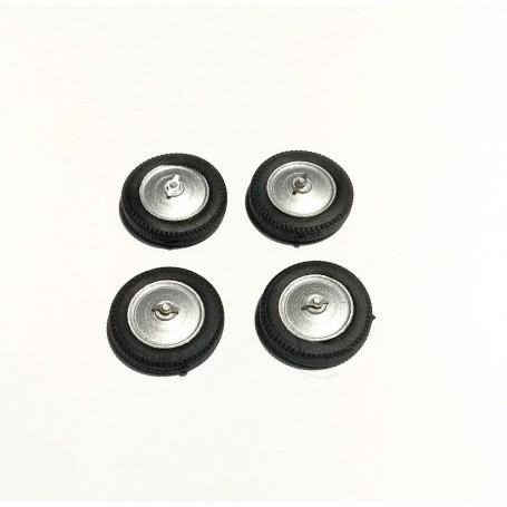 4 wheels for Voisin C28 - resin, flexible tire - ech. 1/43