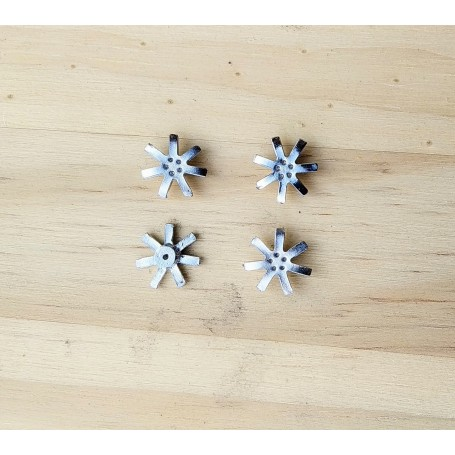 Inserts for rims - 5 branches - ech 1/43 - Ø11mm - x4