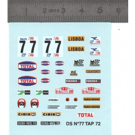 DECAL - CITROËN DS N ° 77 RALLY OF PORTUGAL - ECH. 1:43