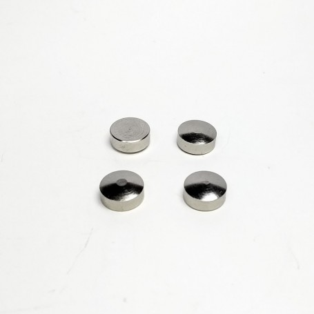4 curved inserts - nickel-plated brass - Ø7mm - CPC Production