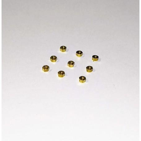 Brass Nut - 6pans of 2mm - X10