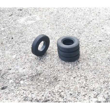 Flexible tires by 4 - interior Ø 12.50mm - ech. 1:43