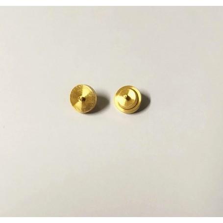 10 brass hubs - Filled Ø5.80 - Model making - CPC
