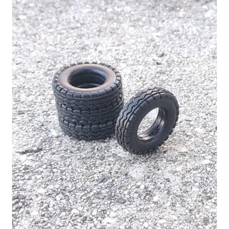 Flexible tires by 4 - Inner Ø 11mm - ech. 1:43