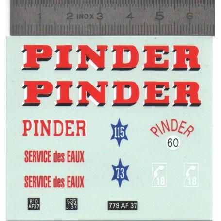 Decal - Pinder - 1 / 43th - Miniatures du Mont-Blanc