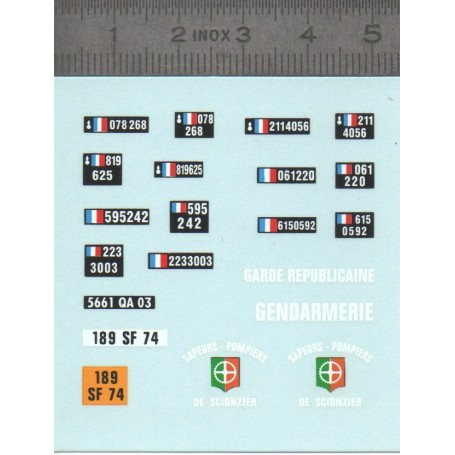 Decal - Gendarmerie Plates - ECH 1:43