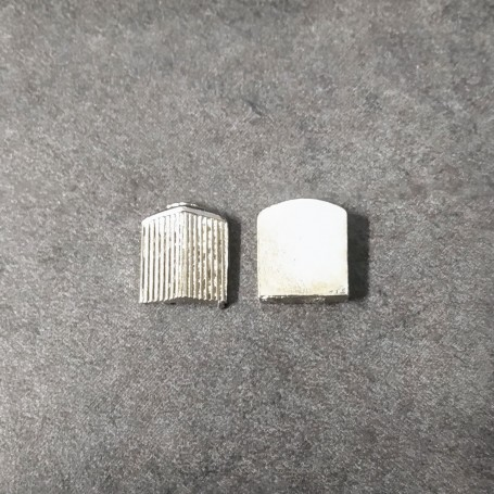 White Metal Radiator - Width 12 mm - ECH 1:43