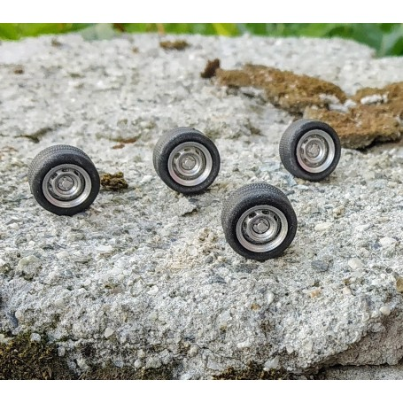 4 complete wheels - Ø13.40 mm - ech. 1:43 - Alu and resin