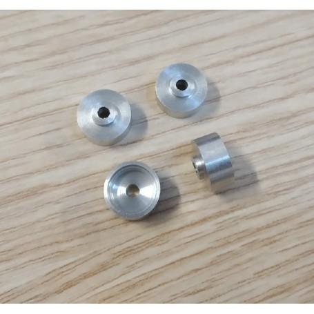 Aluminum wheels Ø8.80 mm (lot of 5)